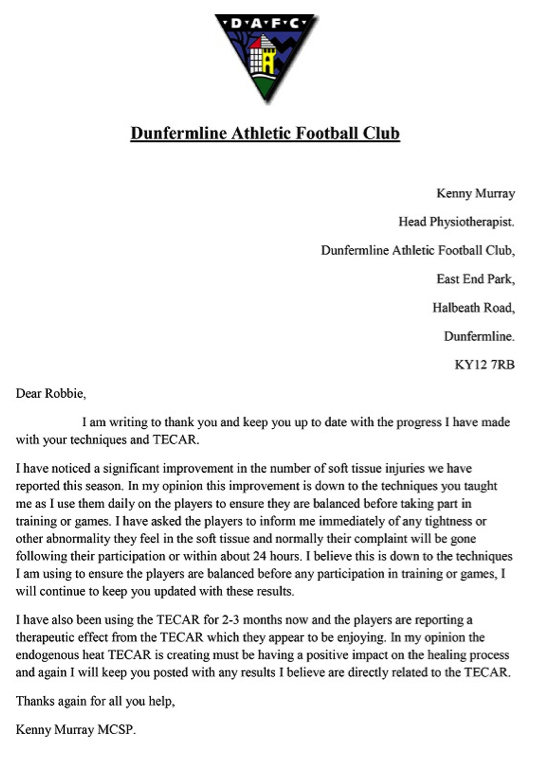 Kenny Murray Head Physiotherapist Dunfermline Athletic Football Club 2