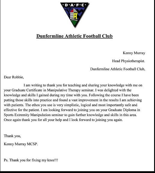 Kenny Murray Head Physiotherapist Dunfermline Athletic Football Club 3